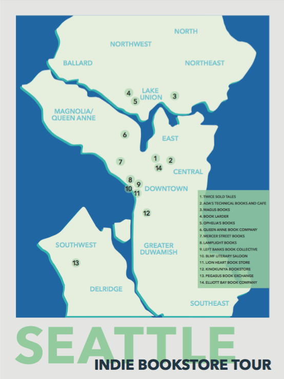 Bookstore Tour Sample Map