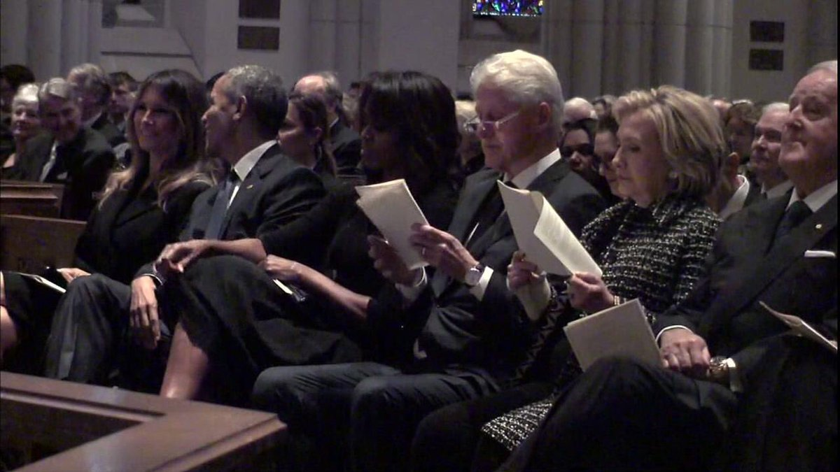 Melania, The Bush Funeral, and The Day Donald Trump Became Presidential