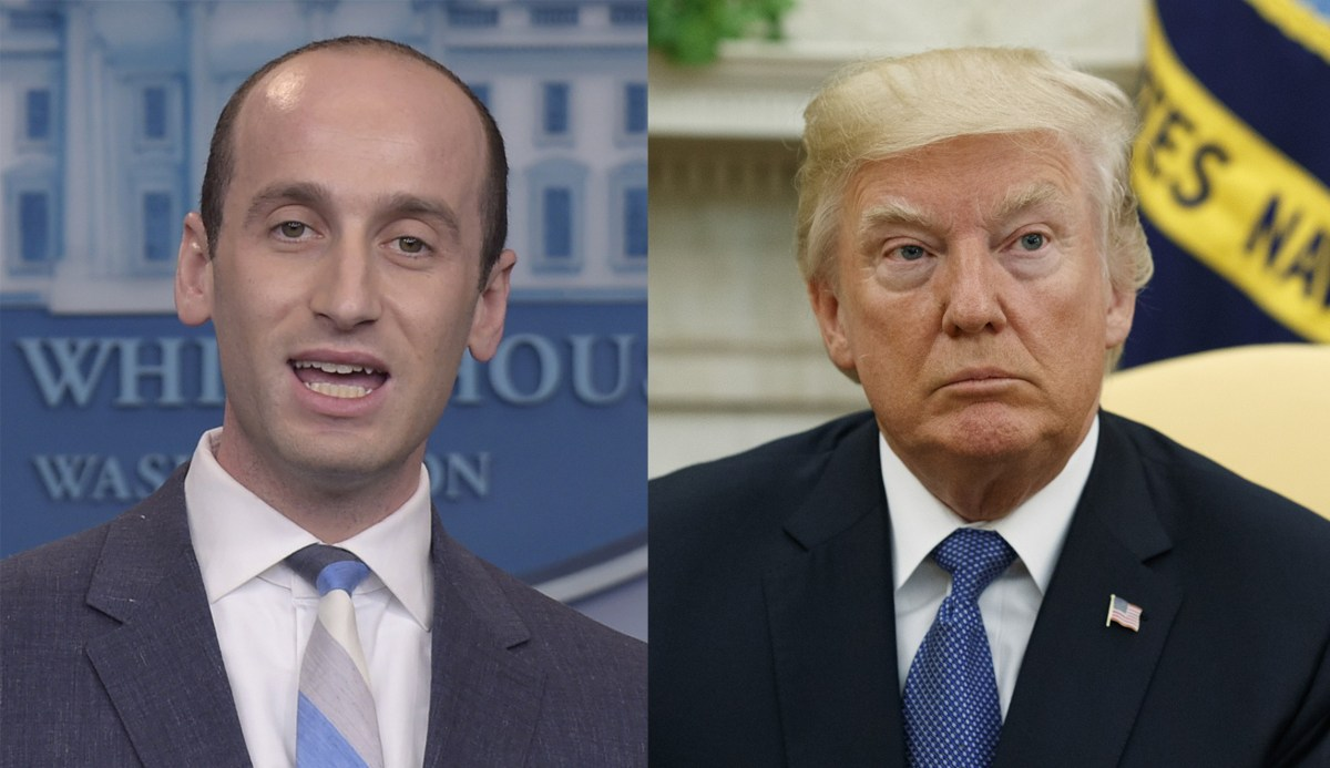 Trump, Miller Caught on Tape in Fiery Exchange in Lead Up to State of the Union