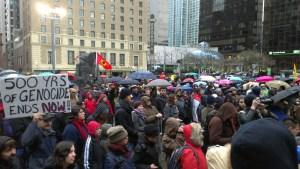 Demonstration in Vancouver (23.12.2012)