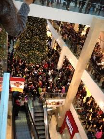 Idle No More Flaschmob in ein Shoppingcenter in Calgary