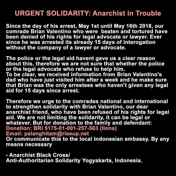 Enough 14Its time to revolt!#Yogyakarta: Urgent Solidarity Call for