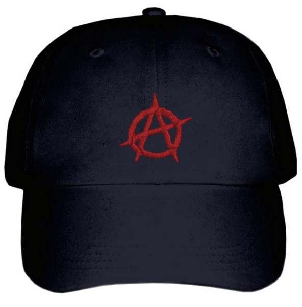 33d79281 Enough 14Its time to revolt!Cap with embroidered Anarchy symbol (Black)