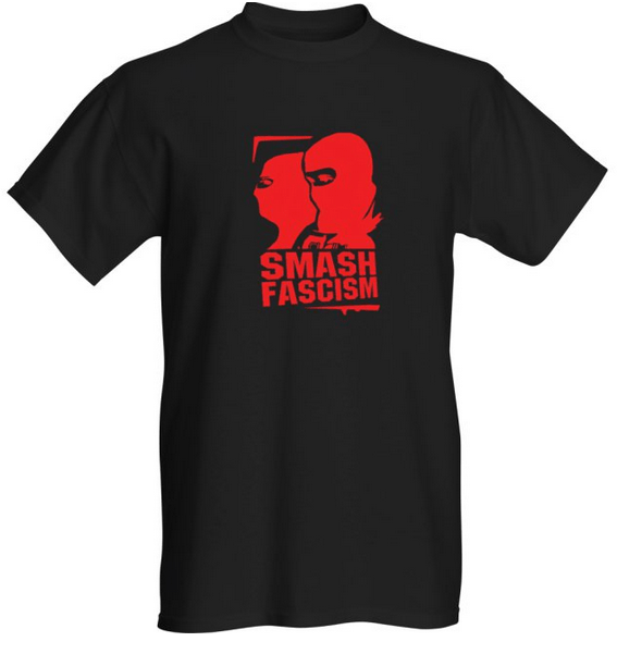 smashfascismtshirtred
