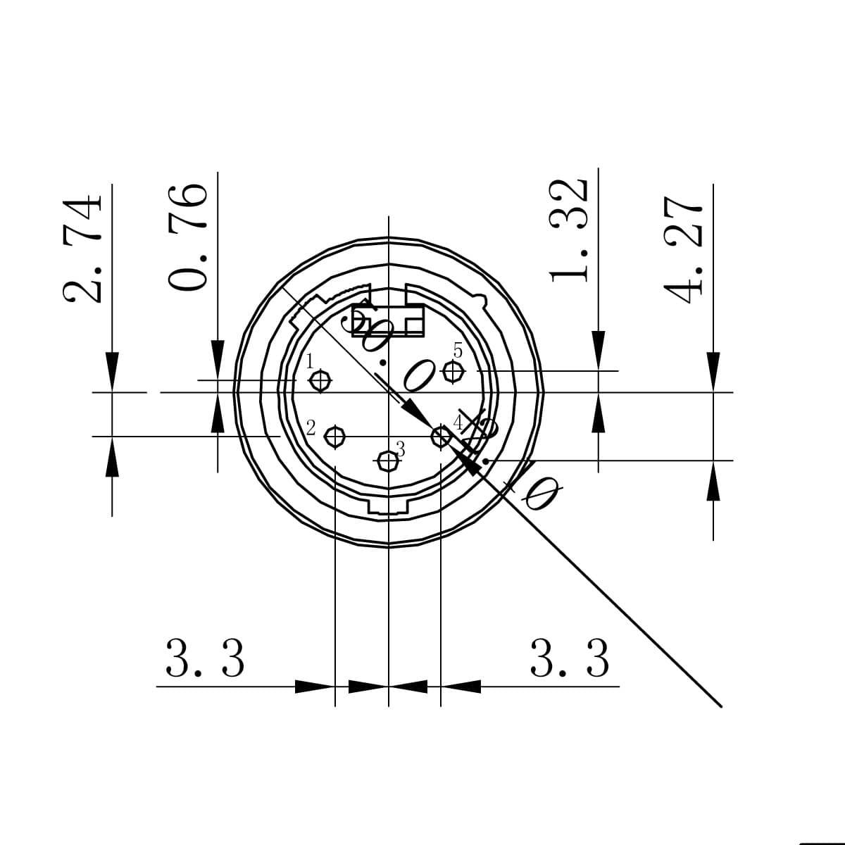 Enova Xlr 5 Pin Male Connector
