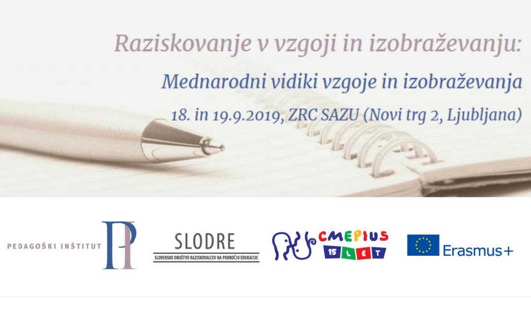 Konferenca Raziskovanje v vzgoji in izobraževanju 2019