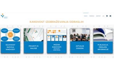 Nove spletne strani Kakovost izobraževanja odraslih