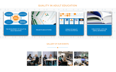 Websites »Quality in adult education« also in english version