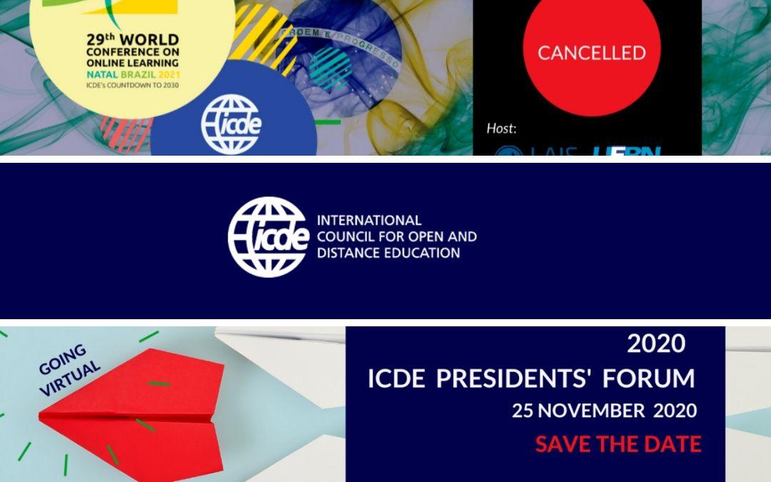 ICDE sporoča …