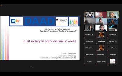 Mednarodna delavnica Civilna družba in izobraževanje odraslih – navade, prakse in oblikovanje 'nove normalnosti'