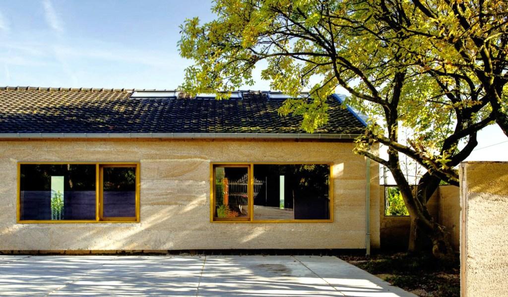 maison fabriquer avec mur en chanvre