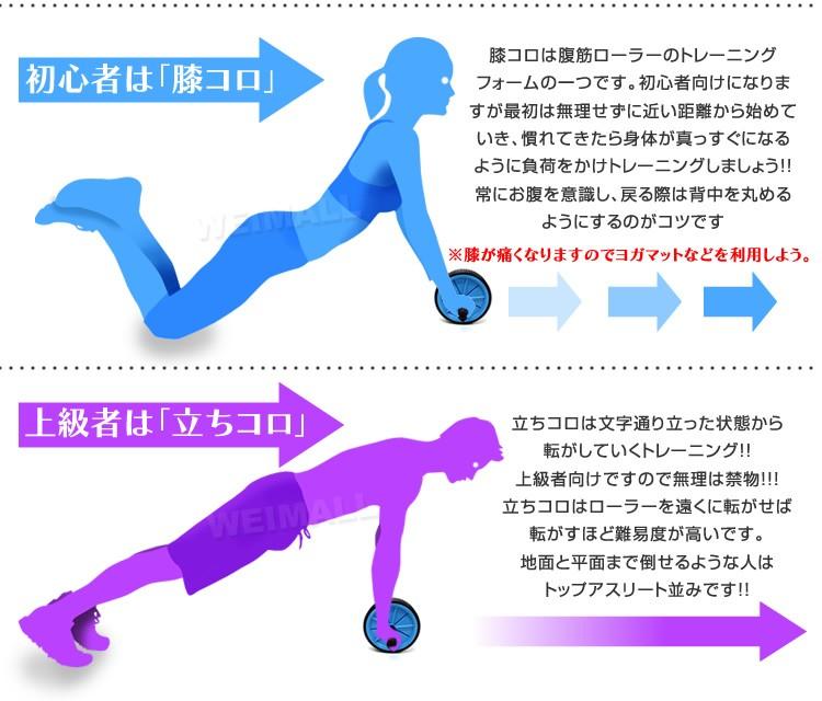 腹筋ローラー使用方法