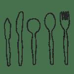 スプーン、フォーク、ナイフのイラストフリー素材
