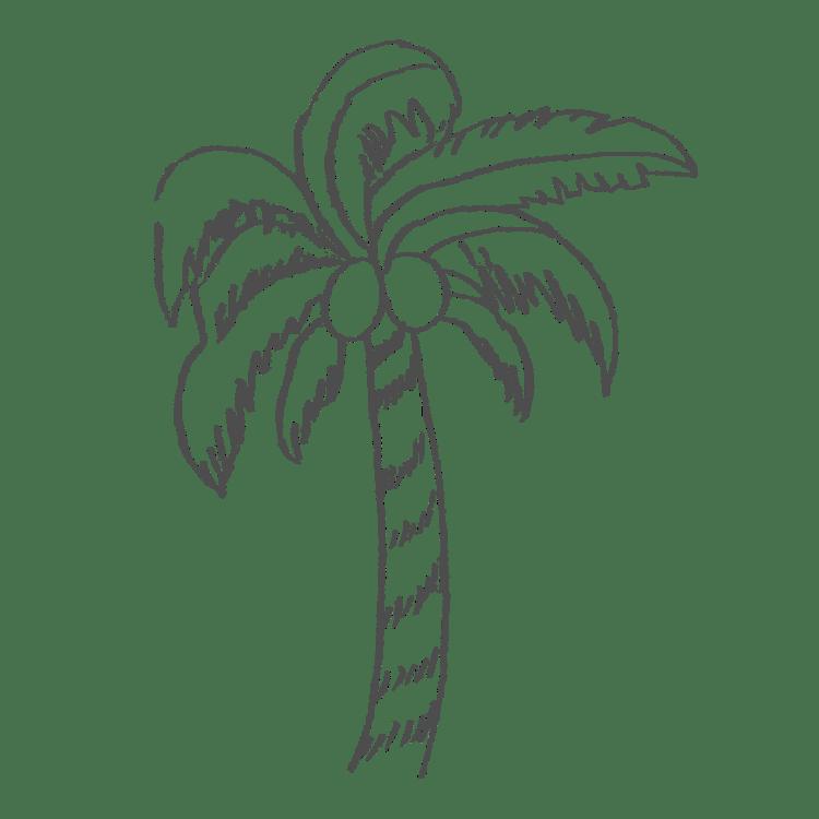 ヤシの木のイラストフリー素材