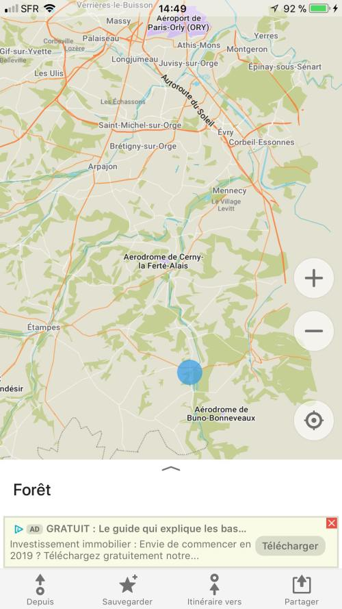 creer point application carte voyage map