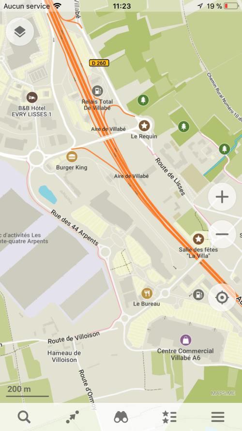 interet carte voyage application map