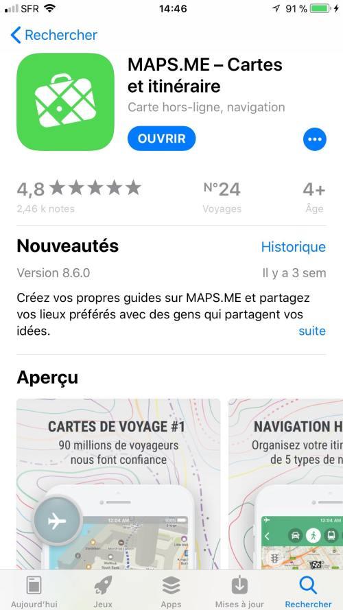 téléchargement application mobile voyage map