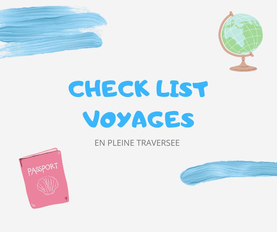check list voyages tourisme organisation