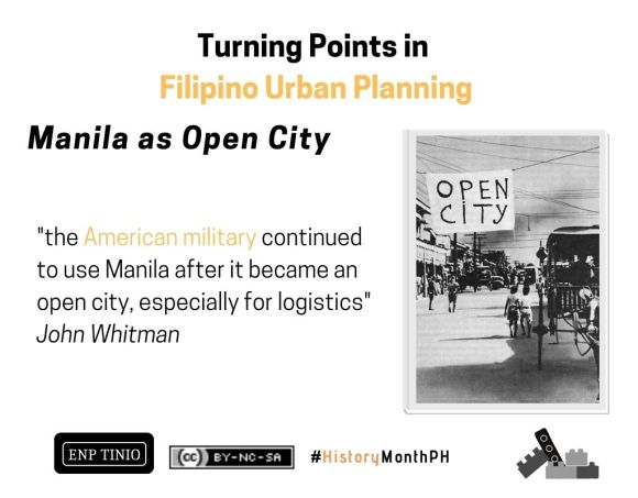 "Even as an ""open city"", Manila was bombed by the Japanese!"