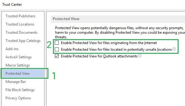 Cách mở file word excel protected