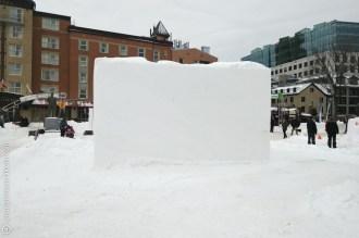 un bloque de hielo
