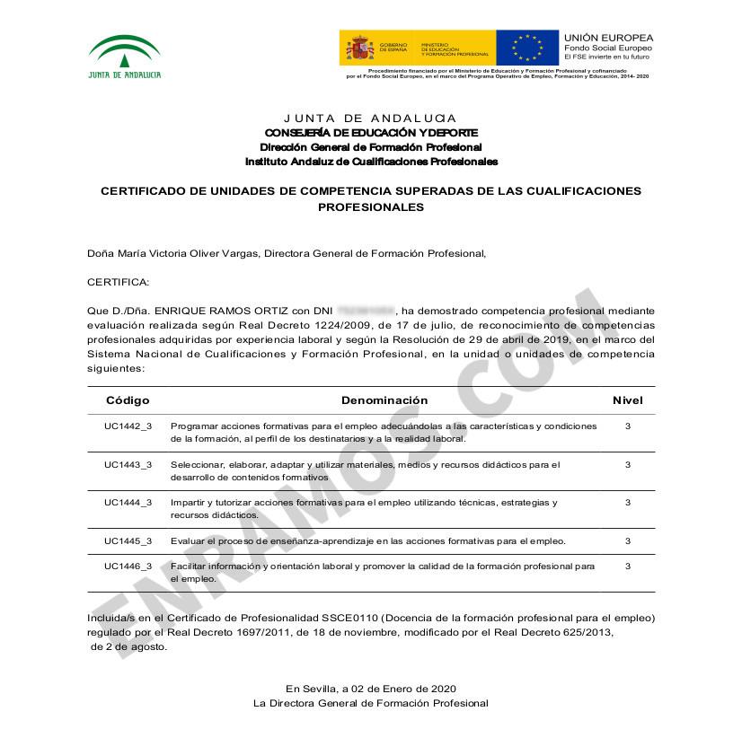 Certificado SSCE0110 (IACP Acredita 2019)
