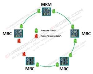 Topología en anillo abierto MRP