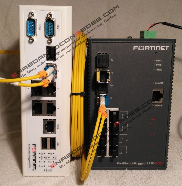FortiSwitch Rugged 112D-PoE and Fortigate Rugged 90D