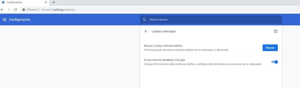 Google Chrome función anti-malware