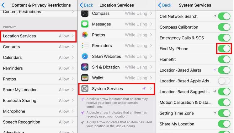 activar servicios localizacion