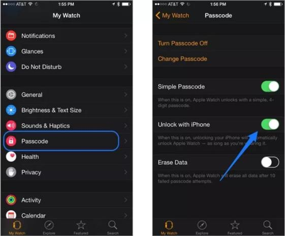 Desbloquear con Iphone apple watch