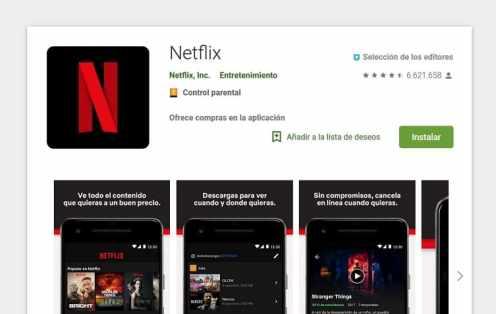 descargar netflix en google play