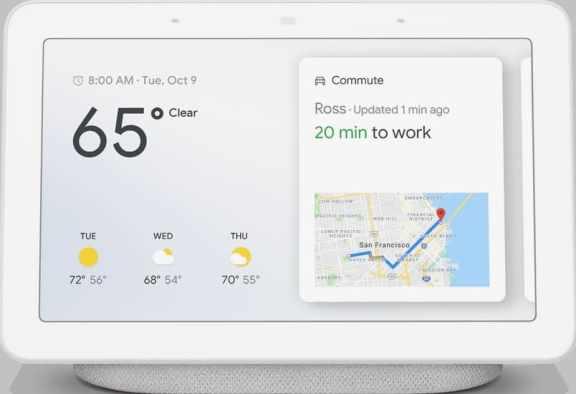 temperatura en Google Nest Hub