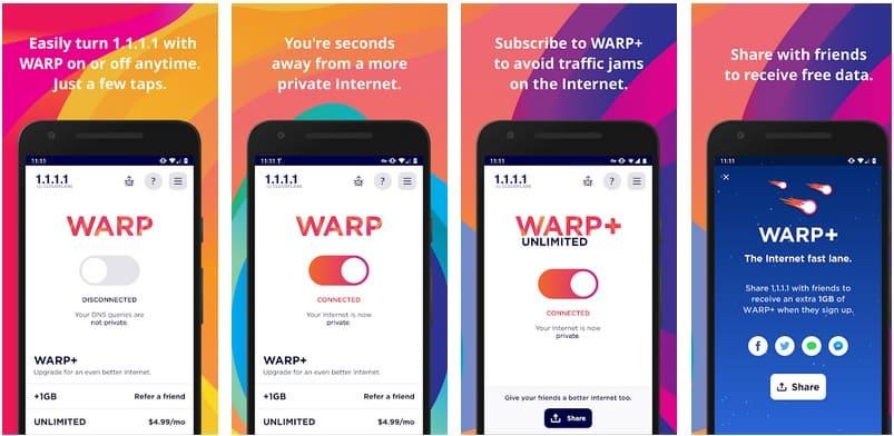 warp vpn gratis para el movil