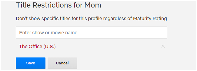 Restricciones de título de Netflix