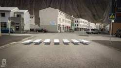 New Crosswalk In Iceland Creates A Stunning Optical Illusion