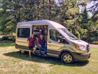 Teri Lou Dantzler, a landscape photographer and grandmother, purchased a Ford Transit to accommodate long road trips.