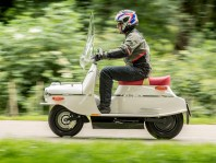 Cezeta Electric Scooter on the Road