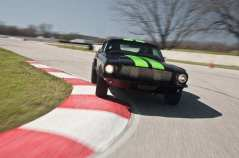 electric-1968-ford-mustang-fastback-carving-corner