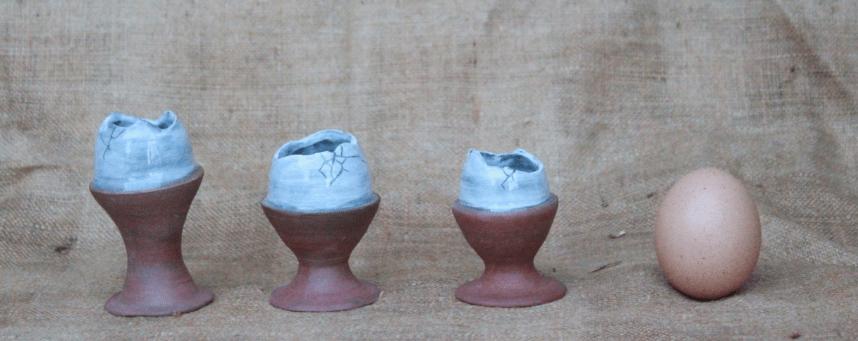 bicchierini in terracotta / pittura di porcellana