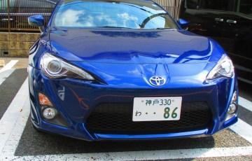 86 GT 青 レンタカー
