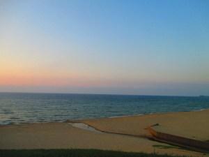 夕暮れ時の琴引浜