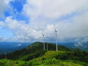 上矢作風力発電所の展望台からの景色