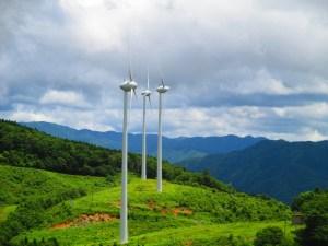 上矢作風力発電所 展望台からの景色