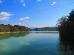 恵那峡 大井ダムからの眺め