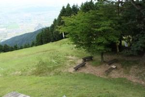 池田山のベンチ