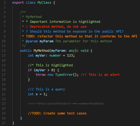 Annotated code