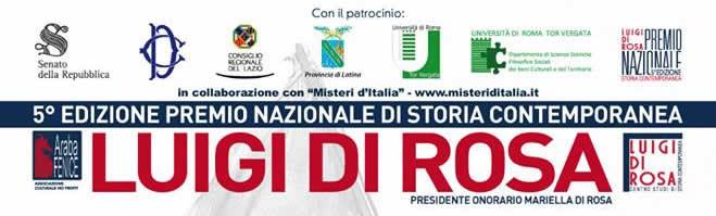"""Premio Nazionale di Storia Contemporanea """"Luigi Di Rosa"""" - Premio alla carriera"""
