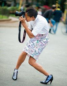 Una fashion blogger.