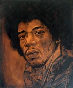 Jimy Hendrix / 60 x 50 cm / huile sur toile